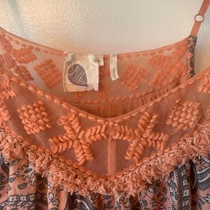Anthropologie Tops - Lilka Anthro Floral Tank Top with Embroidered Neck